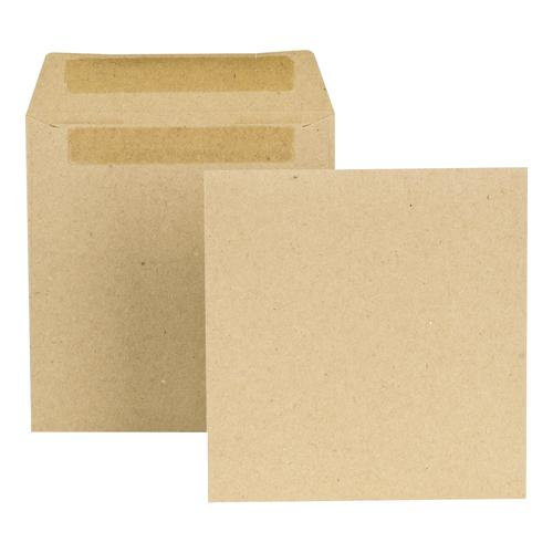 New Guardian Envelopes FSC Wage Pocket Self Seal Med Weight 80gsm 108x102mm Plain Manilla [Pack 1000]