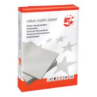5 Star Value Copier Paper Ream-Wrapped A4 White [5 x 500 Sheets]