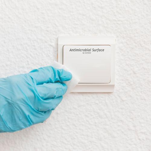 Tarifold Antibacterial Door Handle Stickers 80x90mm Pack of 10