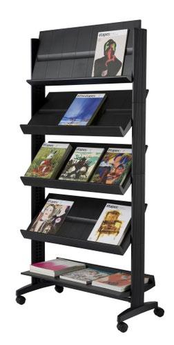 Fast Paper Wide Mobile Literature Display Black