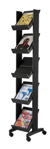 Fast Paper Corner Mobile Literature Display Black
