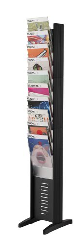 Fast Paper A4 10 Compartment Display Black