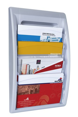 Fast Paper Oversized QuickFit Wall Display Silver
