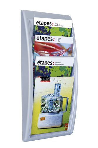 Fast Paper A4 Quickfit Wall Display Silver