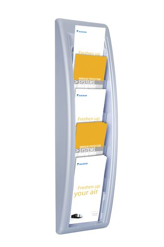 Fast Paper 1/3 A4 Quickfit Wall Display Silver