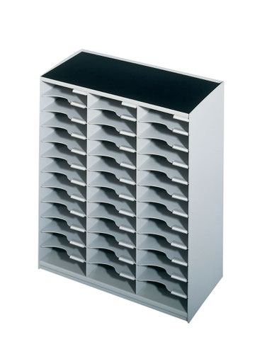 Fast Paper 36 Compartment Mail Sorter Grey