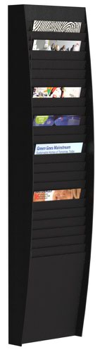 Fast Paper A4 Document Control Panel 25 Compartments Black
