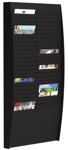 Fast Paper A4 Document Control Panel 50 Compartments Black