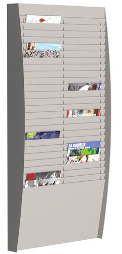 Fast Paper A4 Document Control Panel 50 Compartments Silver