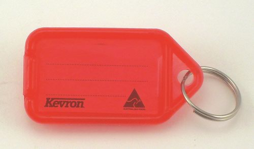 Kevron 56x30mm Red KeyTags Pack of 100 in Display Box