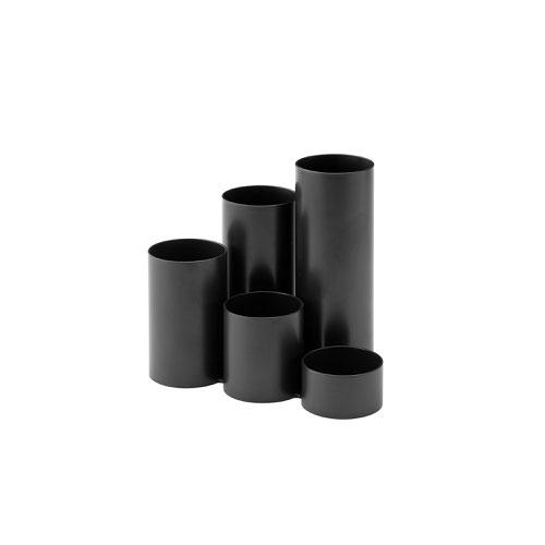 Jalema Resolution Tidy Tubes Desk Organiser Black