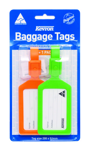 Kevron 200x52mm Baggage Tag Set with KeyTag
