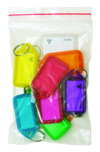 Kevron 56x30mm Assorted Colour Key Tags Pack of 10