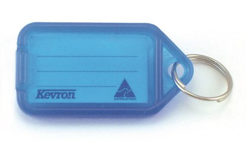 Kevron 56x30mm Blue KeyTags Pack of 100 in Display Box