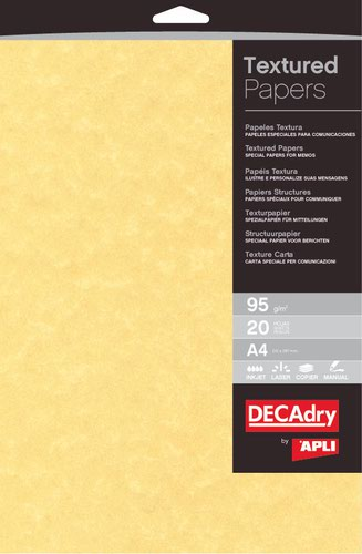 Decadry A4 Parchment Gold Paper 95gsm Pack of 100