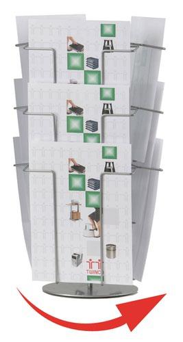 Twinco A4 9 Compartment Revolving Desk Stand