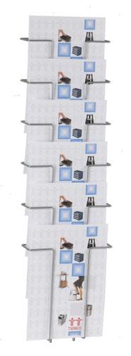 Twinco A4 6 Compartment Literature Holder