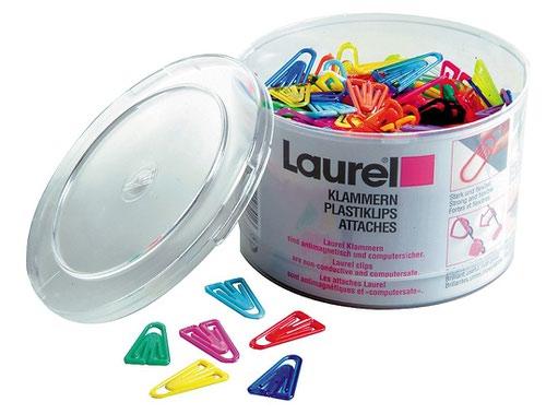 Laurel Plastiklips Assorted 25mm Tub of 500