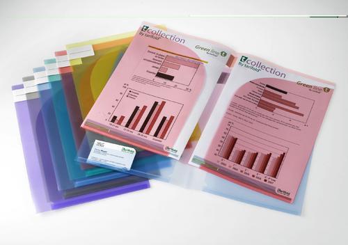 Tarifold Presentation Folder A4 / A3 Assorted Colours (Pack 12)