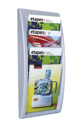 Fast Paper Quick Fit Wall Display Literature Holder A4 Silver