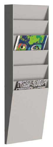 Fast Paper Document Control Panel/Literature Holder 1 x 6 Compartment A4 Grey