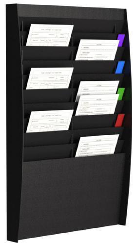 Fast Paper Document Control Panel/Literature Holder 2 x 10 Compartment A4 Black