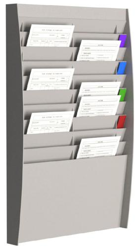 Fast Paper Document Control Panel/Literature Holder 2 x 10 Compartment A4 Grey