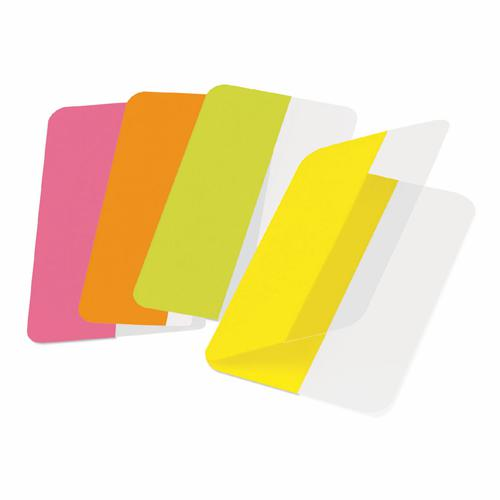 3L Twin Index Tabs Permanent 12x40mm Assorted Colours (Pack 24)