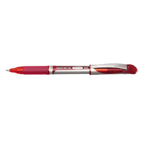 Pentel Energel XM Gel Rollerball Pen 0.7mm Tip 0.35mm Line Red (Pack 12)