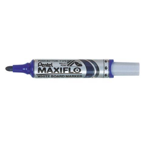 Pentel Whiteboard Marker Bullet Tip Blue PK12