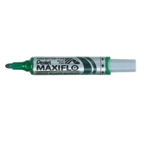 Pentel Whiteboard Marker Bullet Tip 3mm Line Green (Pack 12)