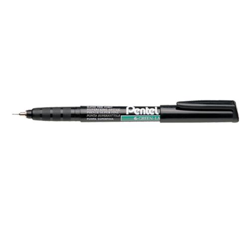 Pentel Permanent Marker Super Fine Black (Pack of 12) NMF50-A
