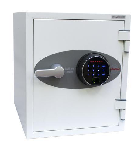 Phoenix Datacare Size 1 Data Safe Fingerprint Lock White DS2001F