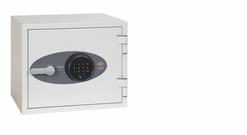 Phoenix Titan Size 1 Fire and Security Safe Fingerprint Lock White FS1281F