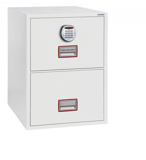 Phoenix Vertical Fire File 2 drwr Filing cbinet Elec Lock