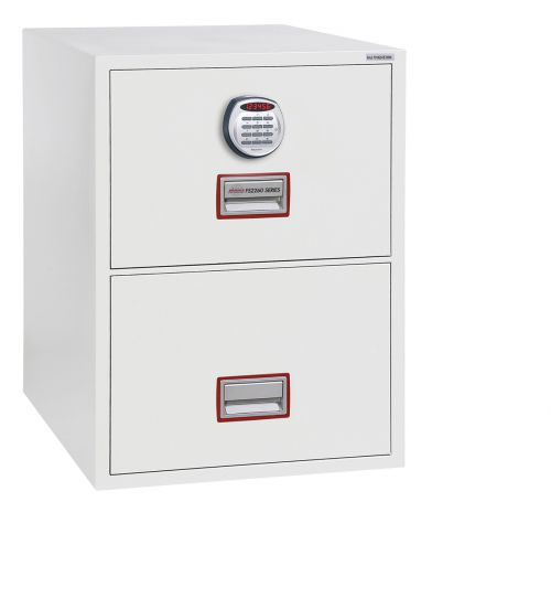 Phoenix World Class Vertical Fire File FS2262E 2 Drawer Filing Cabinet with Electronic Lock