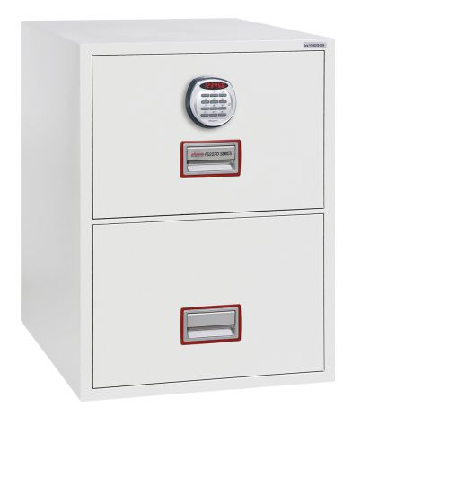 Phoenix World Class Vertical Fire File FS2272E 2 Drawer Filing Cabinet with Electronic Lock