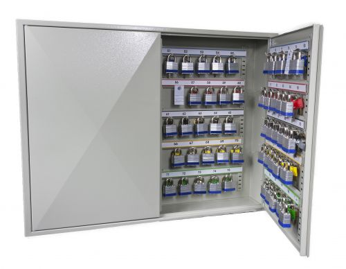 Phoenix Deep Plus & Padlock Key Cabinet KC0503E 50 Hook with Electronic Code Lock