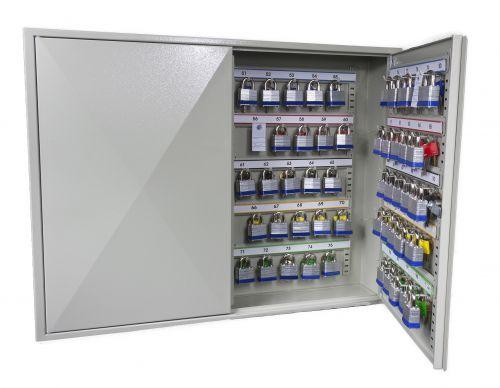 Phoenix Deep Plus & Padlock Key Cabinet KC0503K 50 Hook with Key Lock