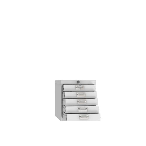 Phoenix MD Series MD0304G 5 Drawer Multidrawer Cabinet in Grey with Key Lock