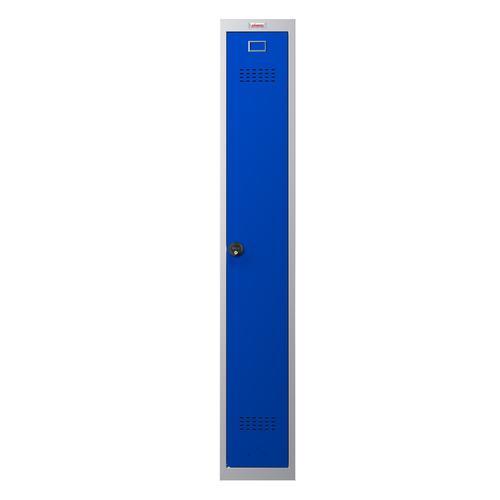 Phoenix PL Series PL1130GBC 1 Column 1 Door Personal Locker Grey Body/Blue Door with Combination Lock