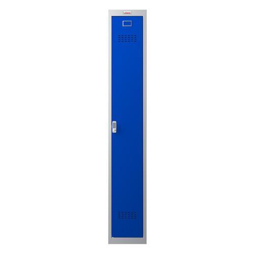 Phoenix PL Series PL1130GBE 1 Column 1 Door Personal Locker Grey Body/Blue Door with Electronic Lock