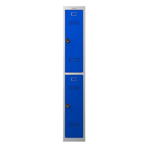 Phoenix PL Series PL1230GBC 1 Column 2 Door Personal Locker Grey Body/Blue Doors with Combination Locks
