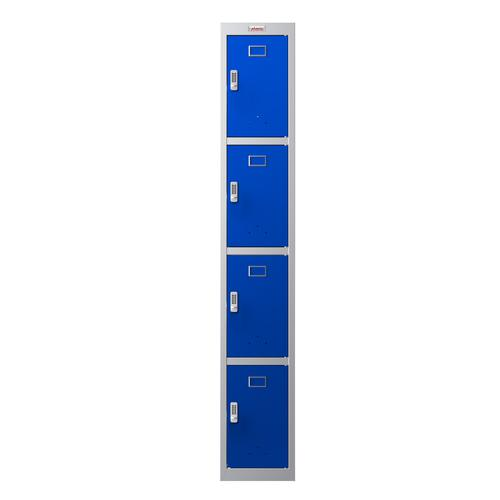 Phoenix PL Series PL1430GBE 1 Column 4 Door Personal Locker Grey Body/Blue Doors with Electronic Lock