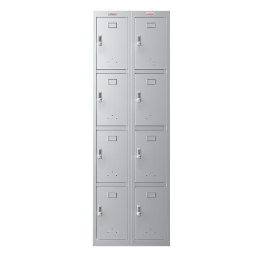 Phoenix PL Series PL2460GGE 2 Column 8 Door Personal Locker Combo in Grey with Electronic Locks