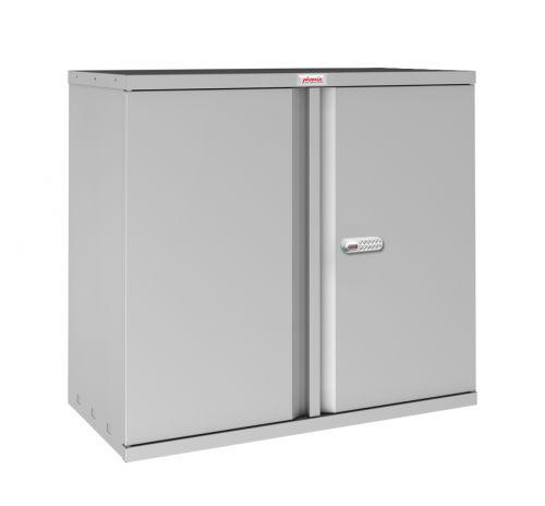 Phoenix SC Series SC0891GE 2 Door 1 Shelf Stationery Cupboard in Grey with Electronic Lock