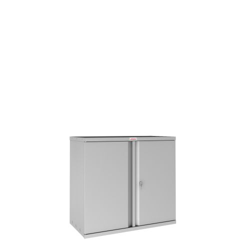 Phoenix SC Series SC0891GK 2 Door 1 Shelf Stationery Cupboard in Grey with Key lock