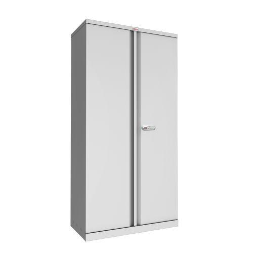 Phoenix SC Series SC1891GE 2 Door 4 Shelf Stationery Cupboard in Grey with Electronic Lock