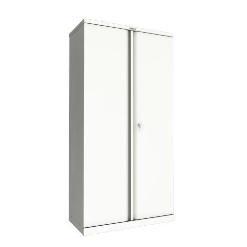 Phoenix SC Series SC1891WK 2 Door 4 Shelf Stationery Cupboard in White with Key lock