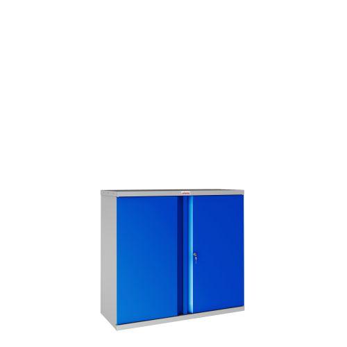 Phoenix SCL Series SCL0891GBK 2 Door 1 Shelf Steel Storage Cupboard Grey Body & Blue Doors with Key Lock